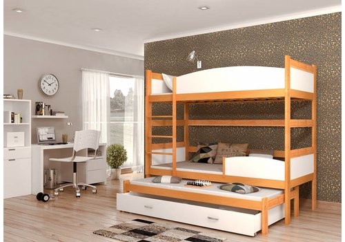 3-Persoons stapelbed Tina3 - els-wit