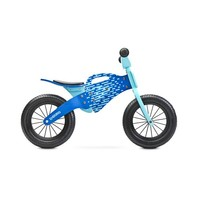 Houten loopfiets Enduro - blauw
