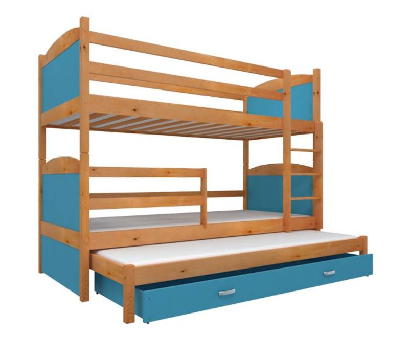 3-Persoons stapelbed Michael3 - els-blauw