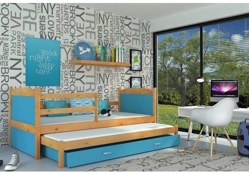 Kinderbed + uitschuifbed Michael2 - els-blauw