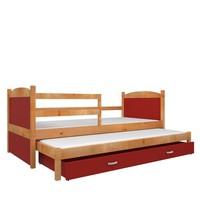 Kinderbed + uitschuifbed Michael2 - els-rood