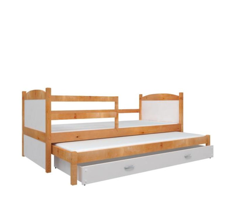Kinderbed + uitschuifbed Michael2 - els-wit