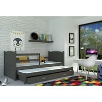 Kinderbed + uitschuifbed Michael2 - grijs