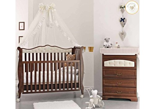 Complete babykamer Trionfo Diamonds -antiek walnoot