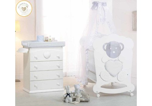 Complete babykamer Charme Diamonds - wit