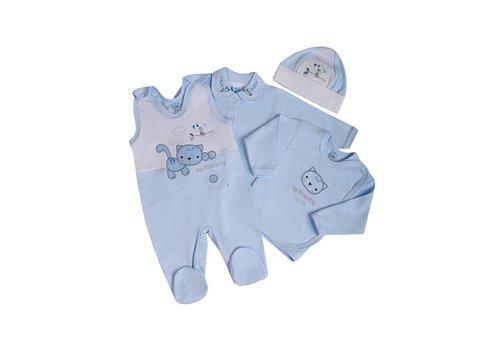 4-Delige babykledingset - Felix - Blauw