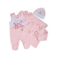 4-Delige babykledingset Felix - Roze