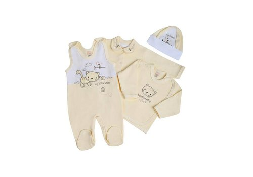 4-Delige babykledingset Felix - Geel