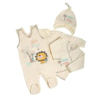 4-Delige babykledingset Friends - Jungle