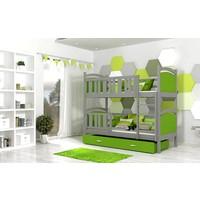 Stapelbed Tamara - grijs-groen