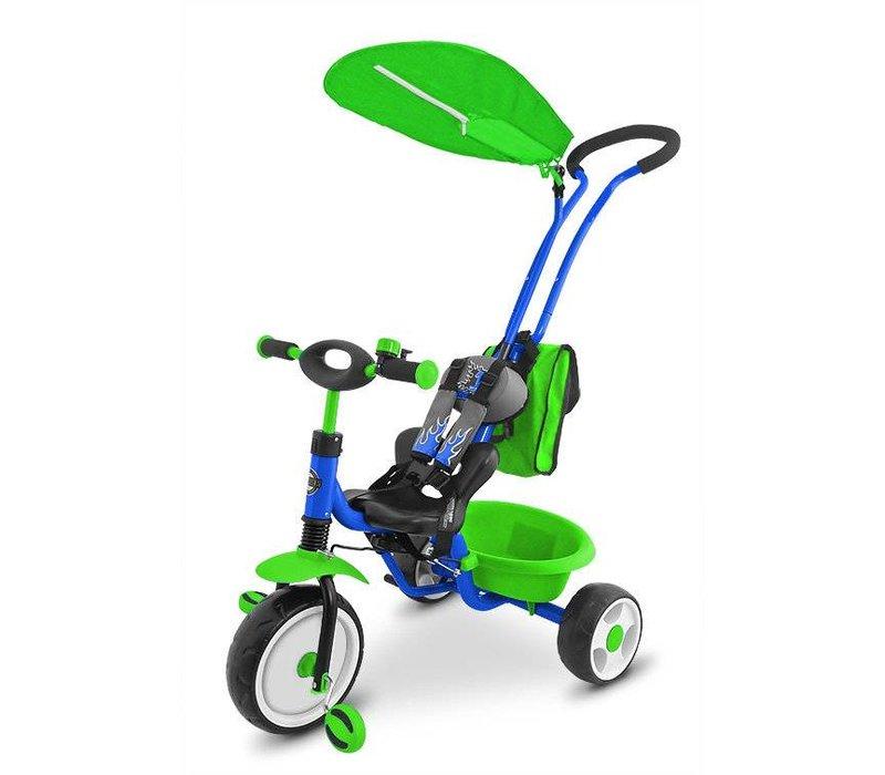 Driewieler Bob DeLux groen-blauw