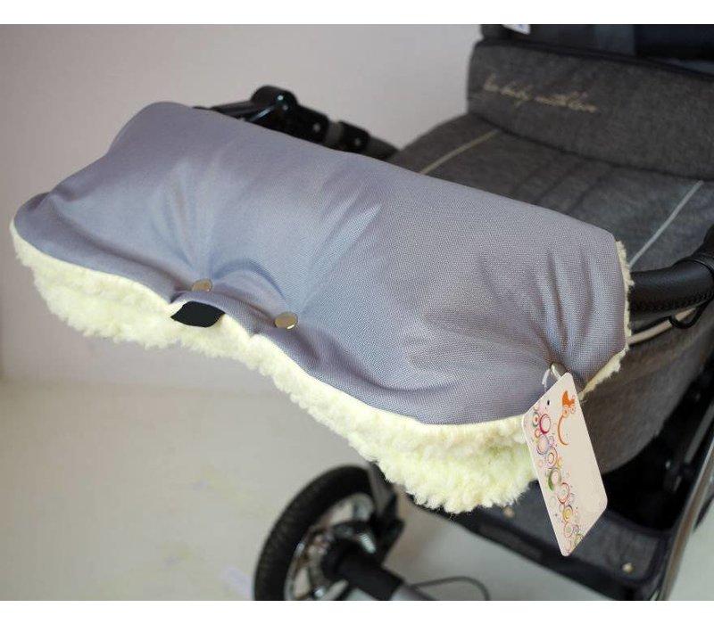 Universele handschoenen voor de kinderwagen - grijs