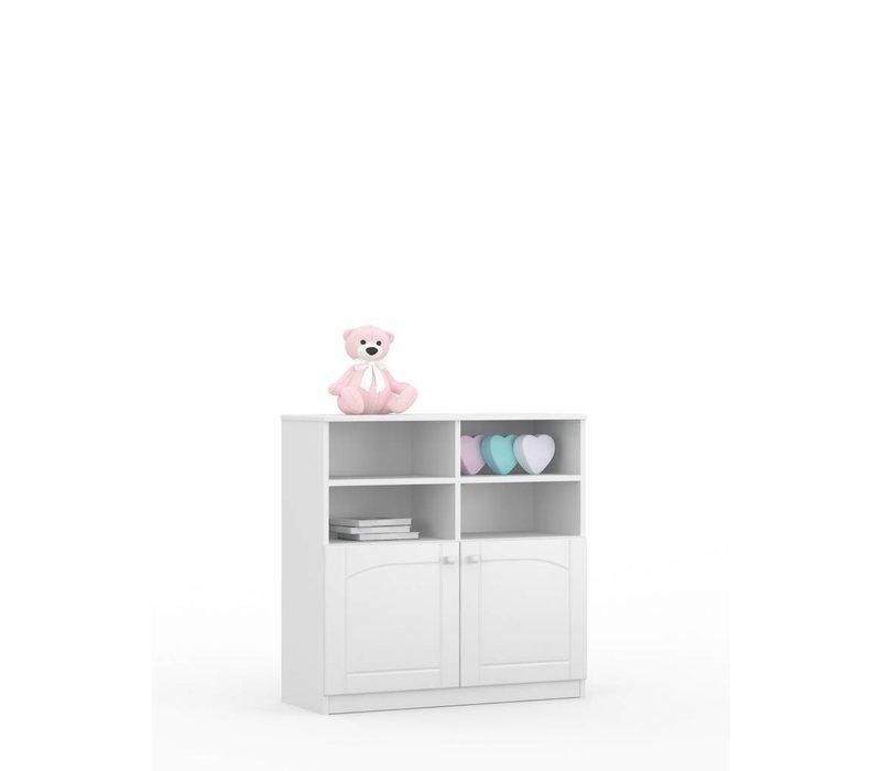 Boekenkast Bianco Fiori 90x90