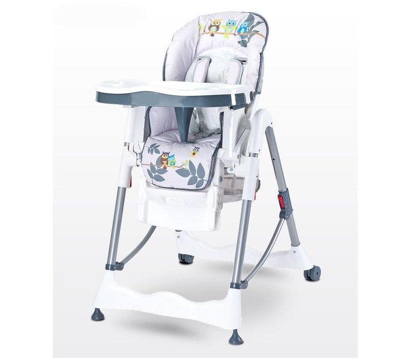 Kinderstoel Magnus Funny grijs heeft een leuke vrolijke print