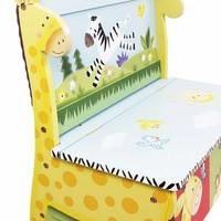 Speelgoedkist - Opbergbank Zonnige Safari