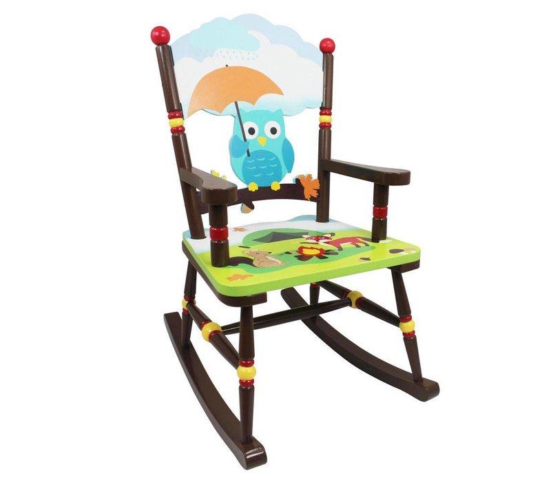 Houten kinderschommelstoel  - Betoverend bos