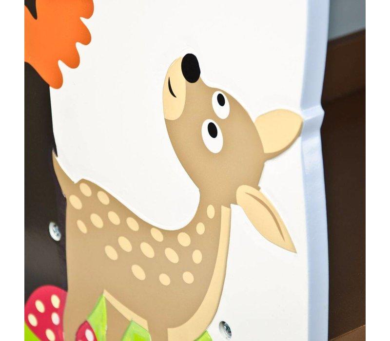 Houten boekenkast  - Betoverend bos