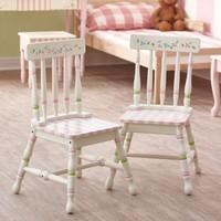 Houten kindertafel met 2 stoeltjes - Bouquet
