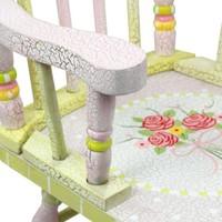 Houten kinderschommelstoel - Crackled Rose