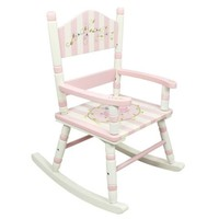 Houten kinderschommelstoel - Bouquet