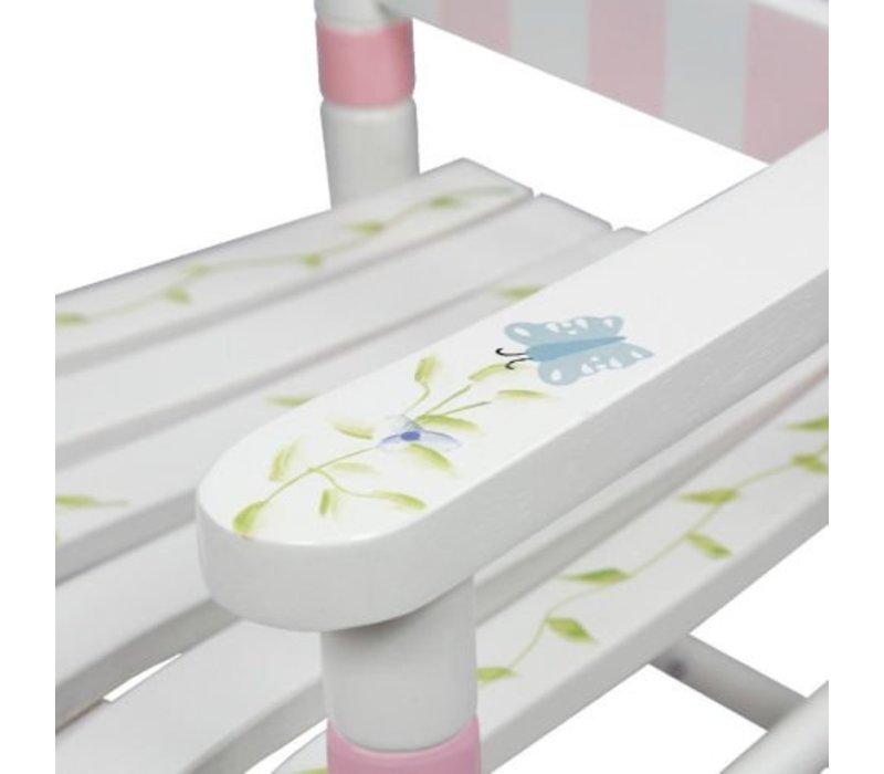 Houten kinderschommelstoel 1 - Bouquet