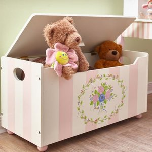 Houten speelgoedkist - Bouquet