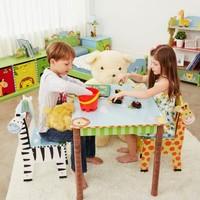 Houten kindertafel - Magische Tuin