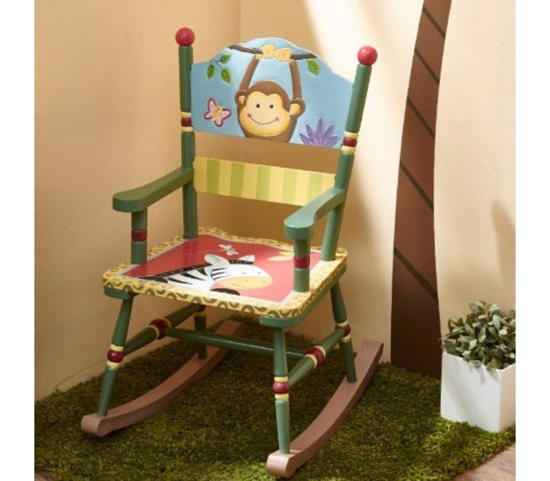 Houten kinderschommelstoel - Magische Tuin