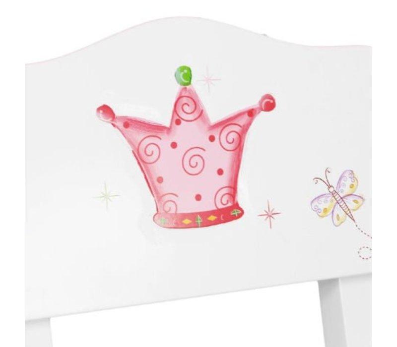 Houten kindertafel Prinses en de Kikker