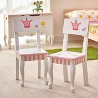 2 Houten stoeltjes Prinses en de Kikker