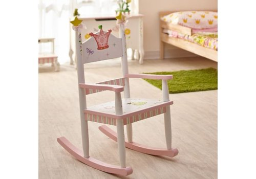 Houten kinderschommelstoel Prinses en de Kikker