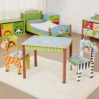 Houten kindertafel Zonnige Safari