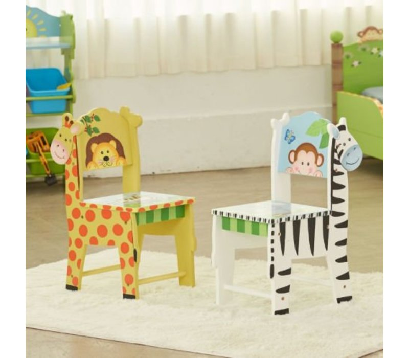 2 Houten stoeltjes Zonnige Safari