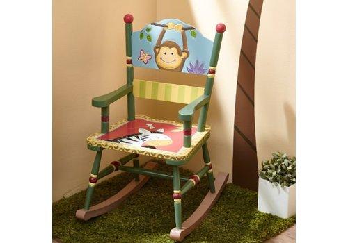 Houten kinderschommelstoel Zonnige Safari