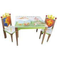 Houten kindertafel - Ridders en Draken