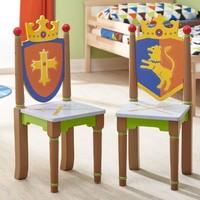 2 Houten  stoeltjes - Ridders en Draken