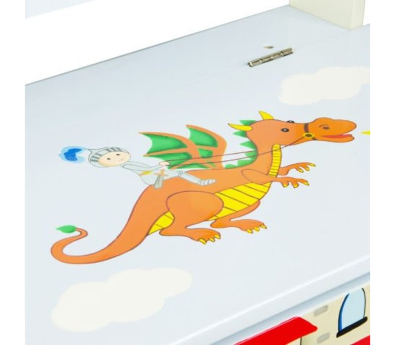 Speelgoedkist - Opbergbank - Ridders en Draken