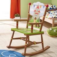 Houten  kinderschommelstoel - Ridders en Draken