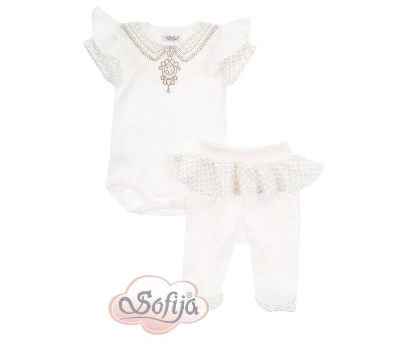 2-Delige babykledingset - Alina - ecru