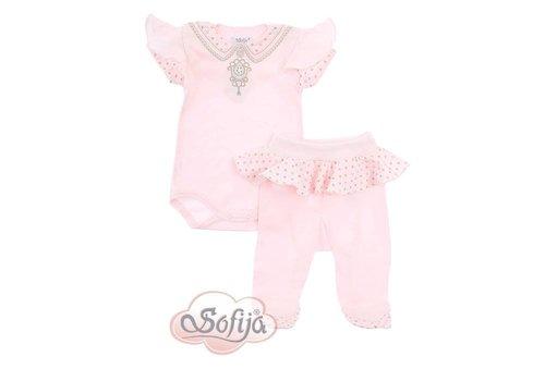 2-Delige babykledingset  - Alina - roze