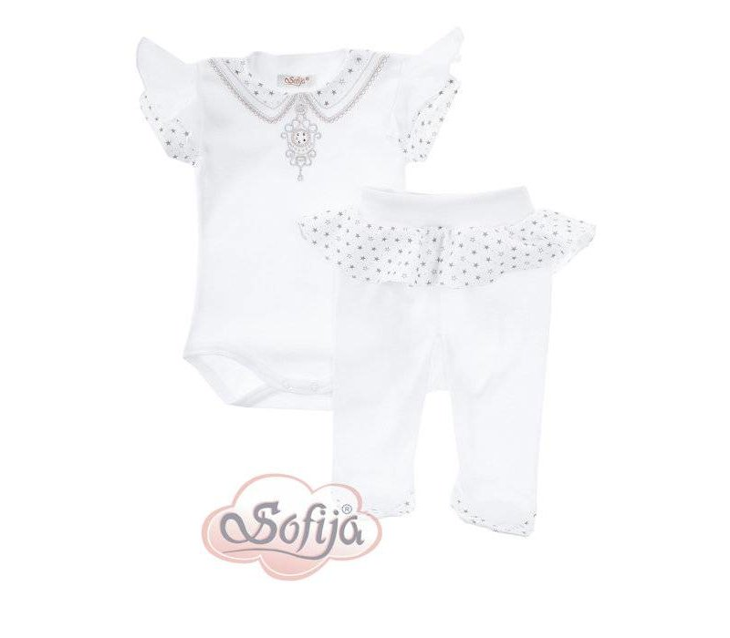 2-Delige babykledingset - Alina - wit