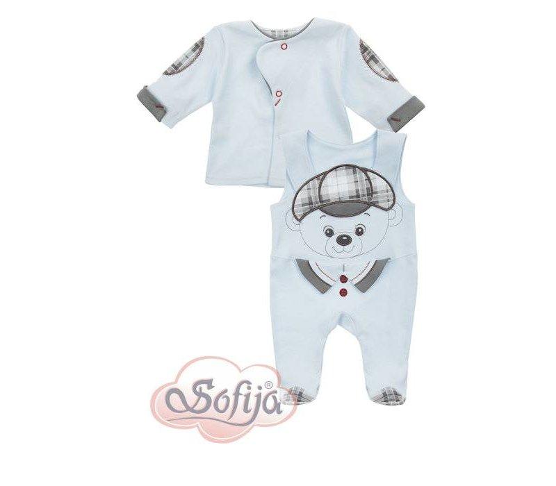 2-Delige babykledingset  - Aron - blauw