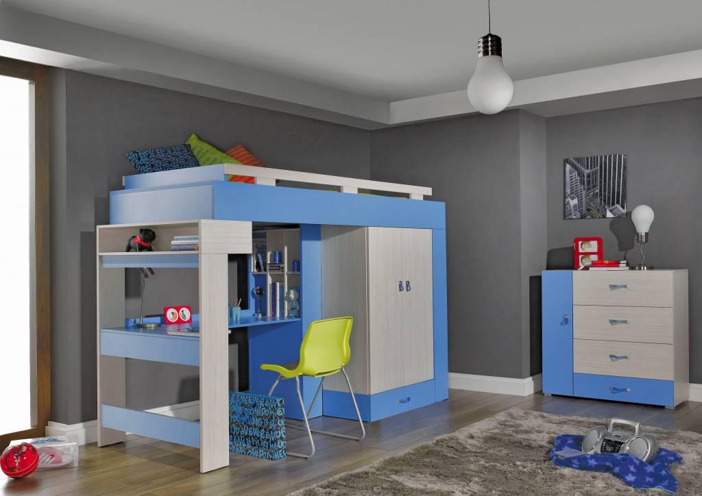 Bureau en kledingkast in kinderkamer op maat online kopen kies