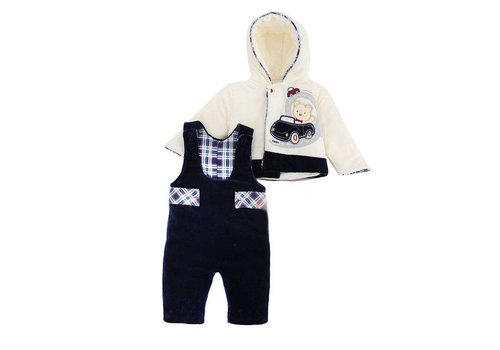 2-Delige velours baby winter set - Amis