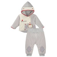 2-Delige velours baby winter set - Baby Lion
