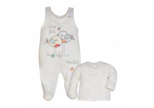 2-Delige babykledingset - True Love - ecru