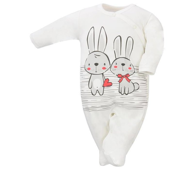Baby pyjama - Bunnies - ecru