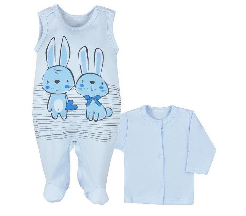 2-Delige babykleding set - Bunnies - blauw