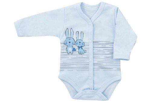 Romper met lange mouw  - Bunnies - blauw