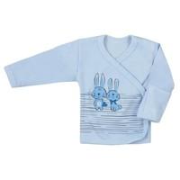 Baby overslag shirt - Bunnies - blauw